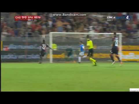 Marco Borriello Amazing Goal - Cagliari Vs SPAL 5-0 Copa Italia 2016
