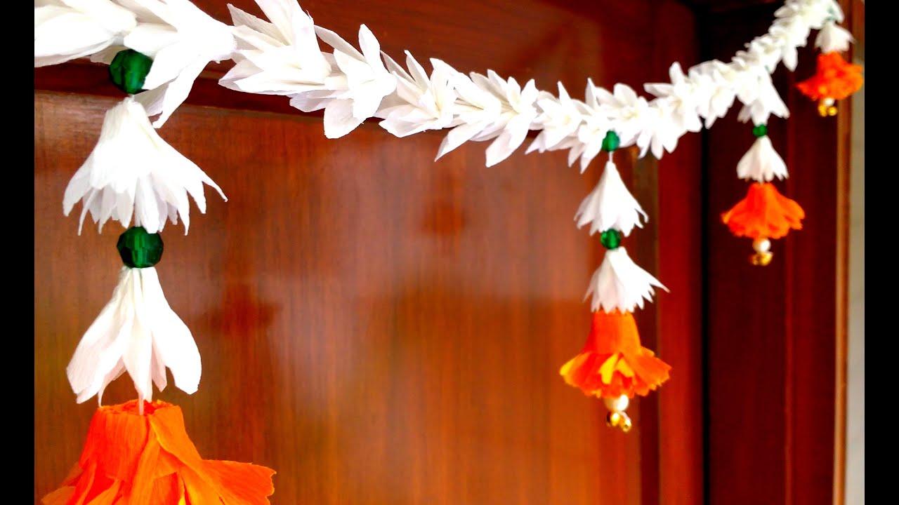 Diy How To Make Easiest Paper Flowers Bandhanwar Toran At Home