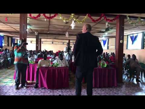 Steve Roese addresses rebels in South Sudan