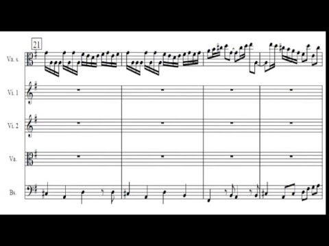 Telemann - viola concerto - Allegro (2/4) Sheet music / partitions