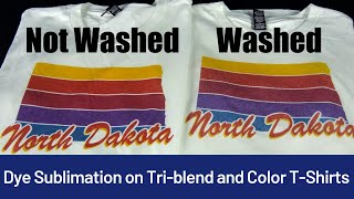 How to do Dye Sublimation Printing of Blends (Mixed), Colored T-Shirts & Clothing