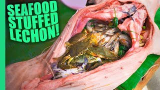 Seafood Stuffed Lechon - Meet the Philippines Mad Food Scientist!