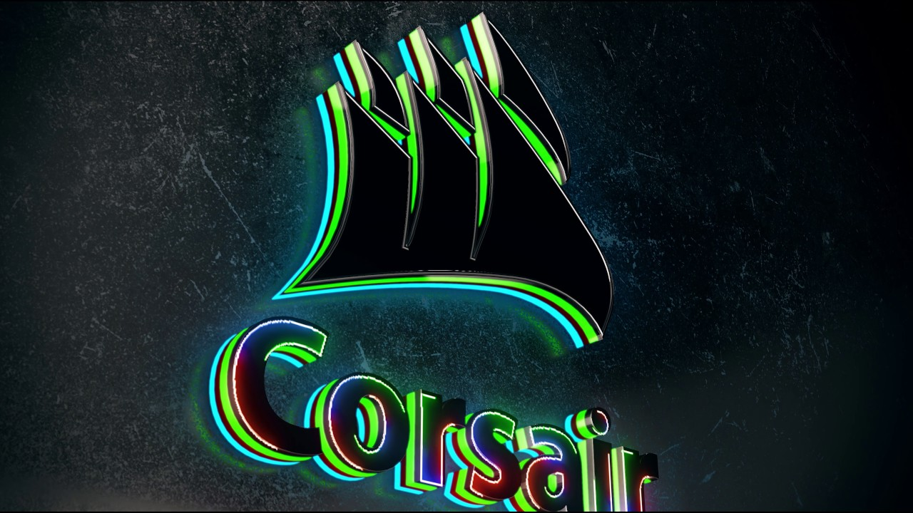 Wallpaper engine 3d 4k 60 corsair logo youtube for Corsair wallpaper 4k