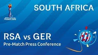 RSA v. GER - South Africa - Pre-Match Press Conference