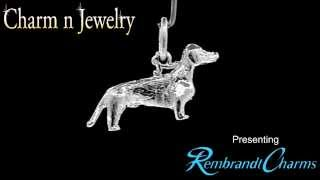 Dachshund Sterling Silver Charm Style 1790