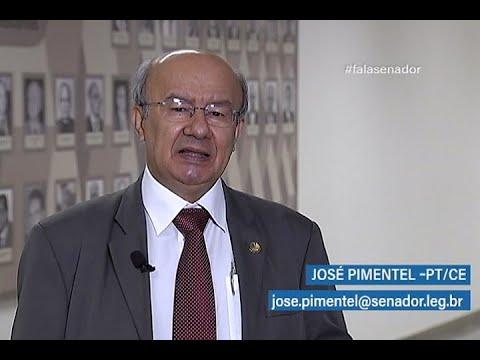 #falasenador: José Pimentel explica projeto que define a região semiárido pela Sudene