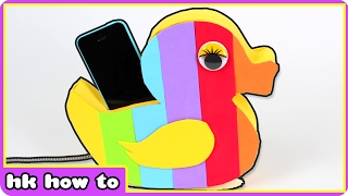 The Coolest DIY Rainbow Duck Phone Holder | DIY Life Hacks by HooplaKidz How To