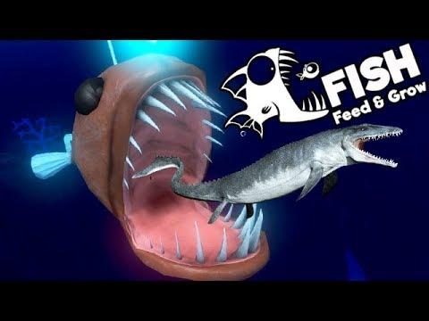 Feed and Grow Fish Gameplay German - Der gigantische Angler Fisch