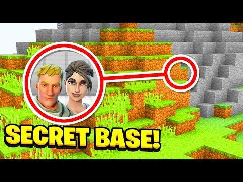 Minecraft: We Found Fortnite's SECRET BASE! (Ps3/Xbox360/PS4/XboxOne/PE/MCPE)