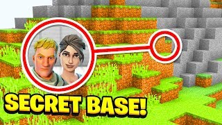 Minecraft: Nous avons trouvé Fortnite SECRET BASE! (Ps3/Xbox360/PS4/XboxOne/PE/MCPE)