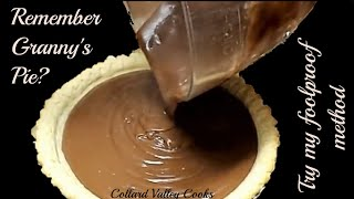 Old Fashioned Cooked Chocolate Cream Pie, CVC Southern Baking