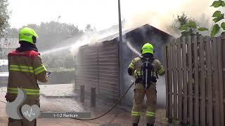 schuurtje in de brand in Renkum