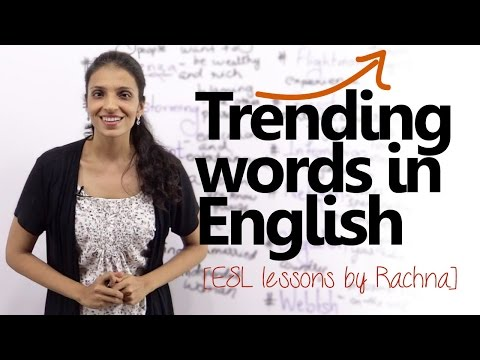 Trending words in English ( New words in English)-  Free English Lessons
