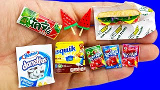 10 COOL DIY MINI FOOD AND DRINKS REALISTIC HACKS AND CRAFTS !!!