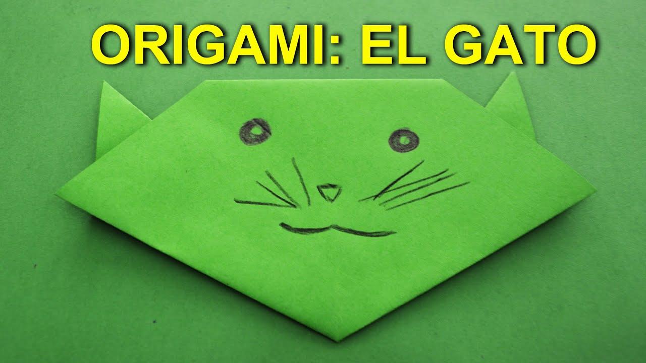 Manualidades de Papel, Origami Facil de Papel para Niños: El Gato ...