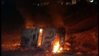 police jawan burns alive in Jeep fire