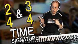 HOW TO EASILY Play and Count Rhythms in 2/4 and 3/4 Time Signatures