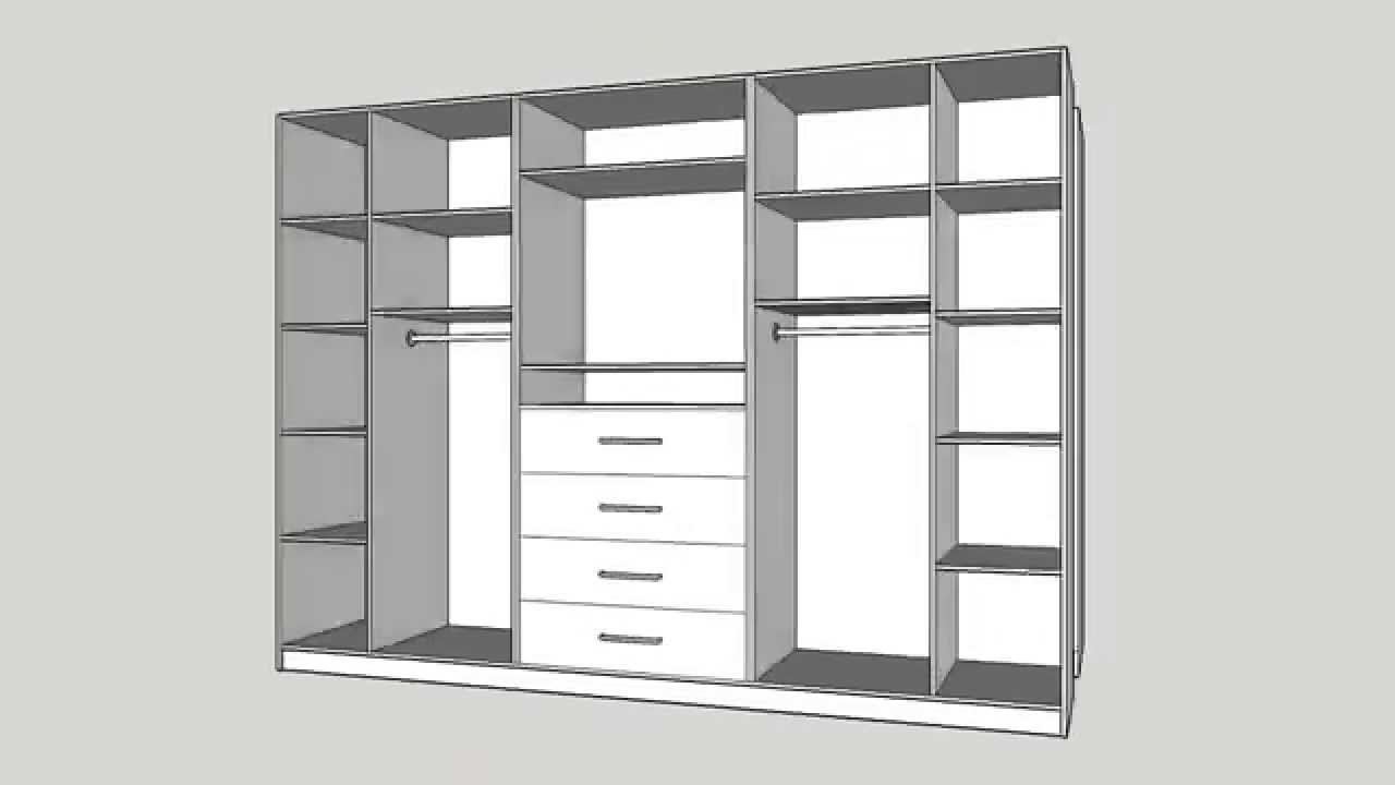 Closet en melamina closet in melamine youtube for Planos de roperos