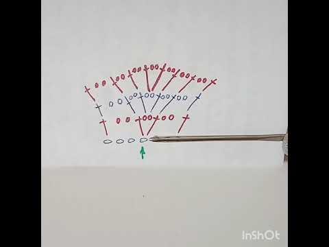 Прибавки в филейном вязании. Способ 1.