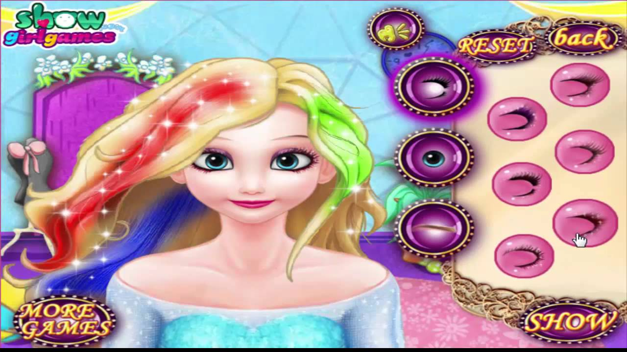 Frozen Games Elsa Queen and Anna travel to India Dress up and Makeup Makeover