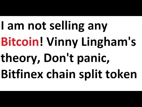 I am not selling any Bitcoin! Vinny Lingham's theory, Don't panic, Bitfinex chain split token