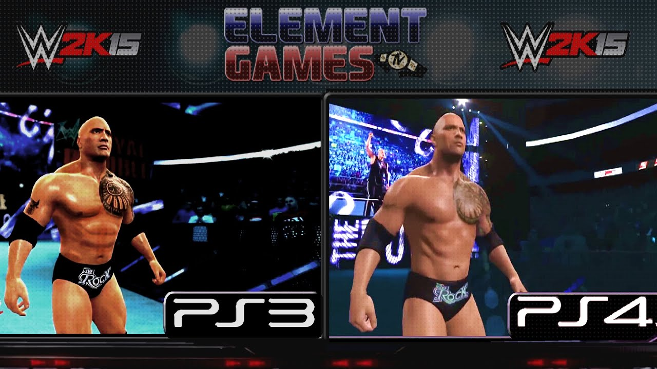 WWE 2K15 The Rock PS4 Vs PS3 Comparison