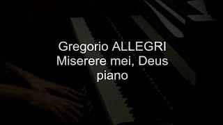 Allegri  Miserere mei, Deus   piano