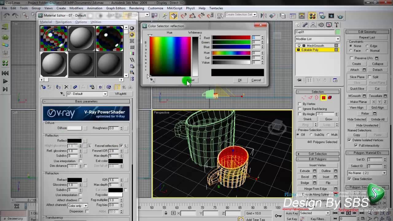 3ds max lighting hdris using vray 1. 5 rc3 renderer tutorial.