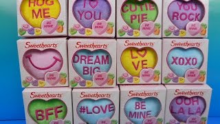 2015 SWEETHEARTS VALENTINE SET OF 12 McDONALD'S HAPPY MEAL KID'S TOY'S VIDEO REVIEW