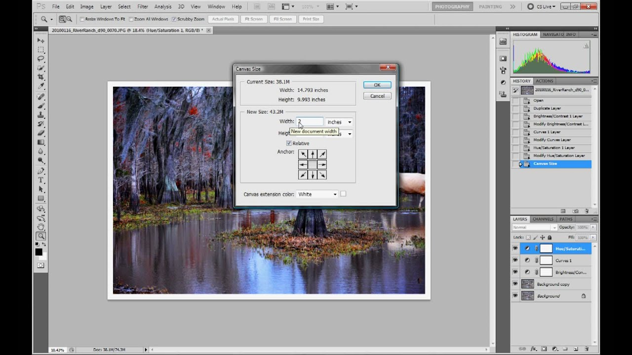 How to add a border to your photos | Photoshop CS6 - YouTube