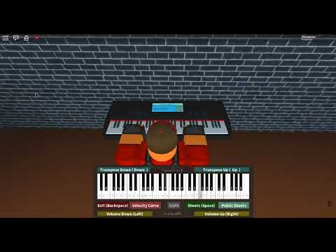 Lovers Theme  2 Girls 1 Cup : Hervé Roy on a ROBLOX piano Kill me