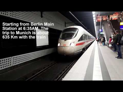 Inside Germany's High Speed Train | Berlin Munich