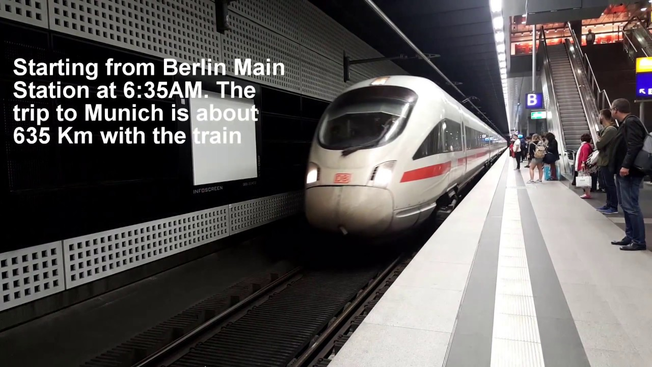 Inside Germany's High Speed Train | Berlin Munich 2018