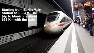 Inside Germany's High Speed Train | Berlin Munich 2018