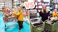 NO BUDGET SHOPPING CHALLENGE!! Adult VS Child!!