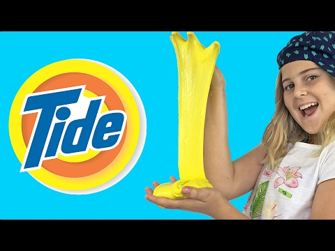 How to make clear slime with tide detergent