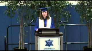 Ali Viterbi Graduation Speach From San Diego Jewish Academy