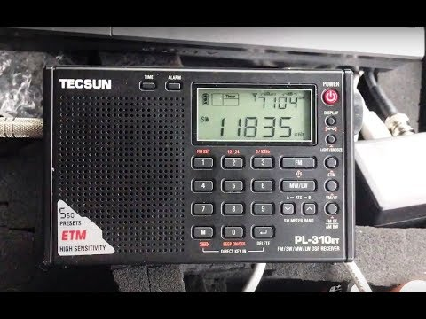 Sri Lanka Broadcasting Corporation 11835 kHz booming on Tecsun PL-310ET and Boni Whip
