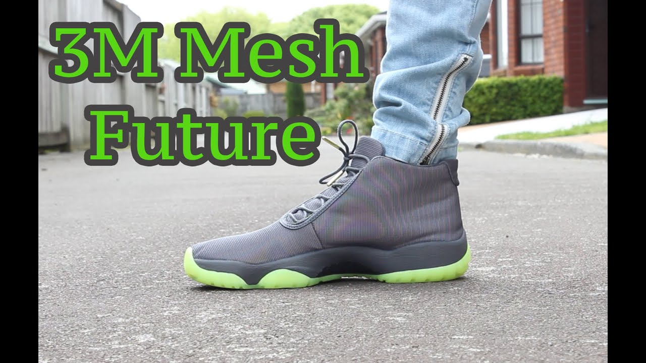 timeless design 85bb0 689ca Air Jordan Future Dark Grey/Volt Reflective/3M Detailed On-Feet Look ...