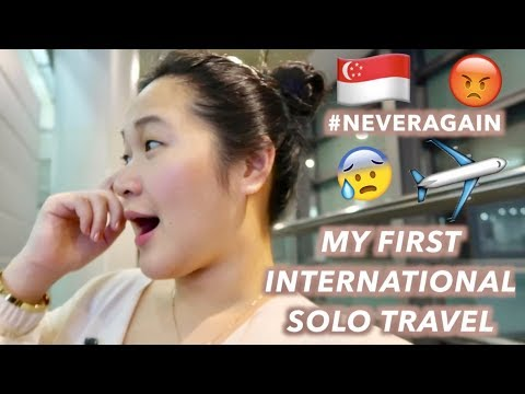 TRAVELING ALONE FOR THE FIRST TIME  + SINGAPORE DAY 1 🇸🇬 | VLOG