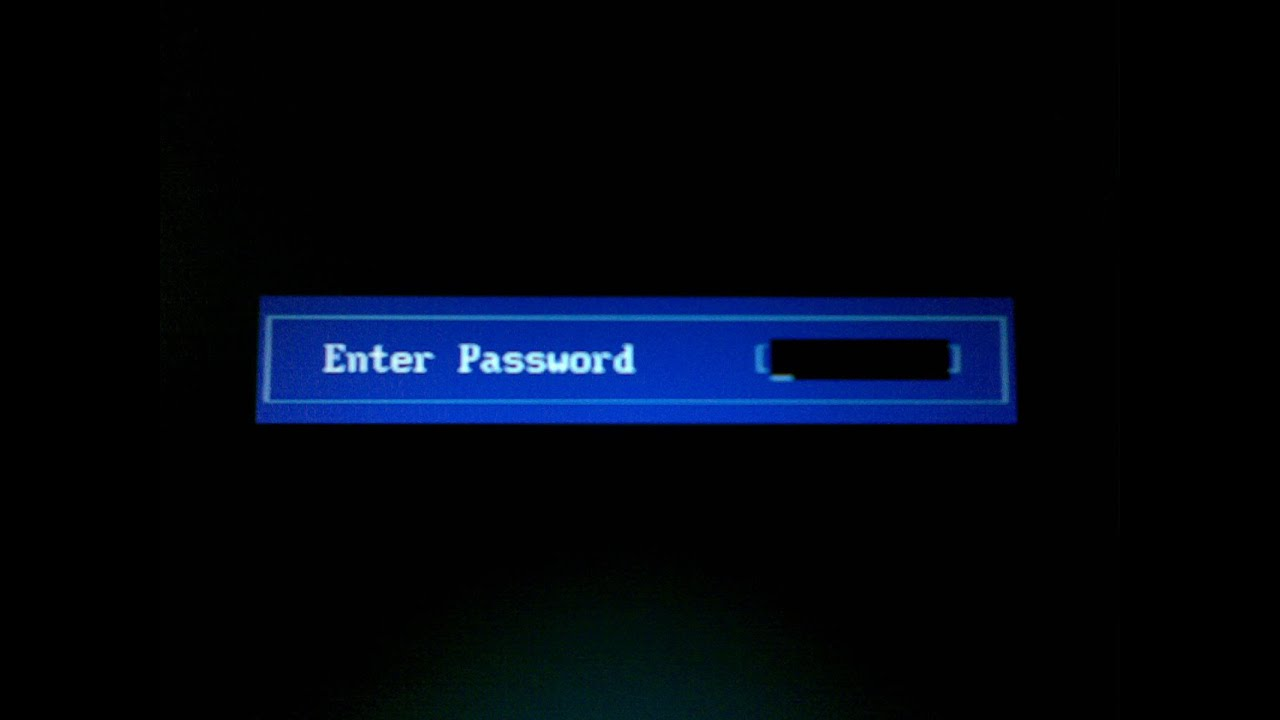 how to clear a bios password on hp laptop