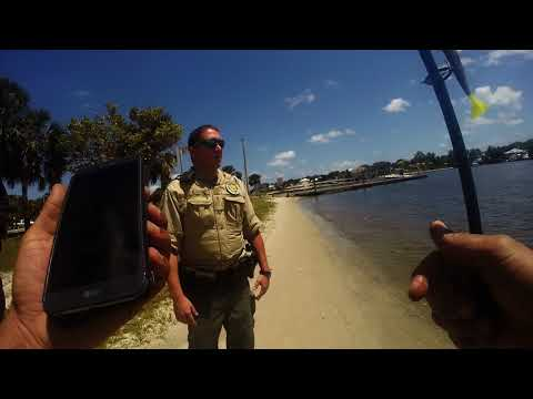 1st Police Interaction At Sandsprit Park While Open Carrying Stuart, Florida