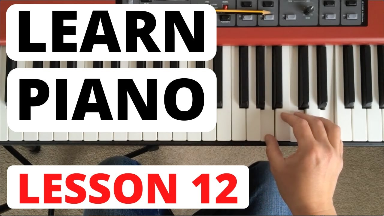 Uitzonderlijk Piano for Beginners, Lesson 12 || Rhythm reading and new scales @ZA59
