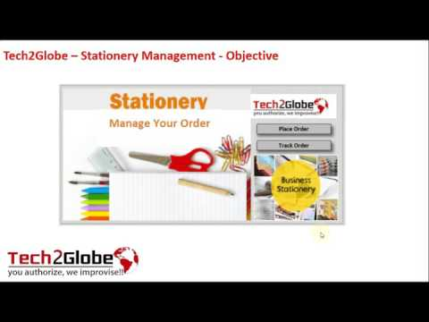 Excel Tool Stationery Management