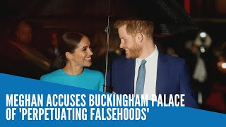 Meghan accuses Buckingham Palace of 'perpetuating falsehoods'