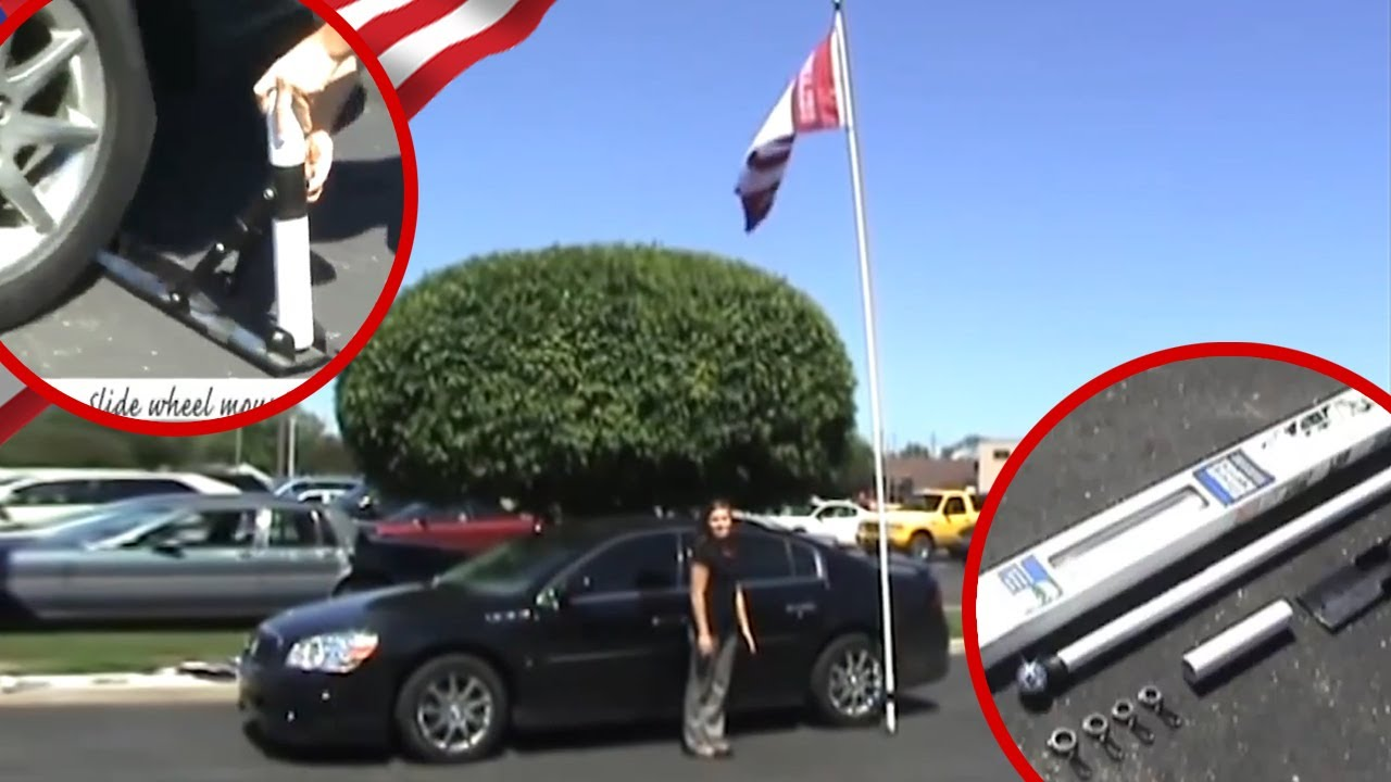 e95d967f295b The ULTIMATE 16' Tailgating Telescoping Flag Pole