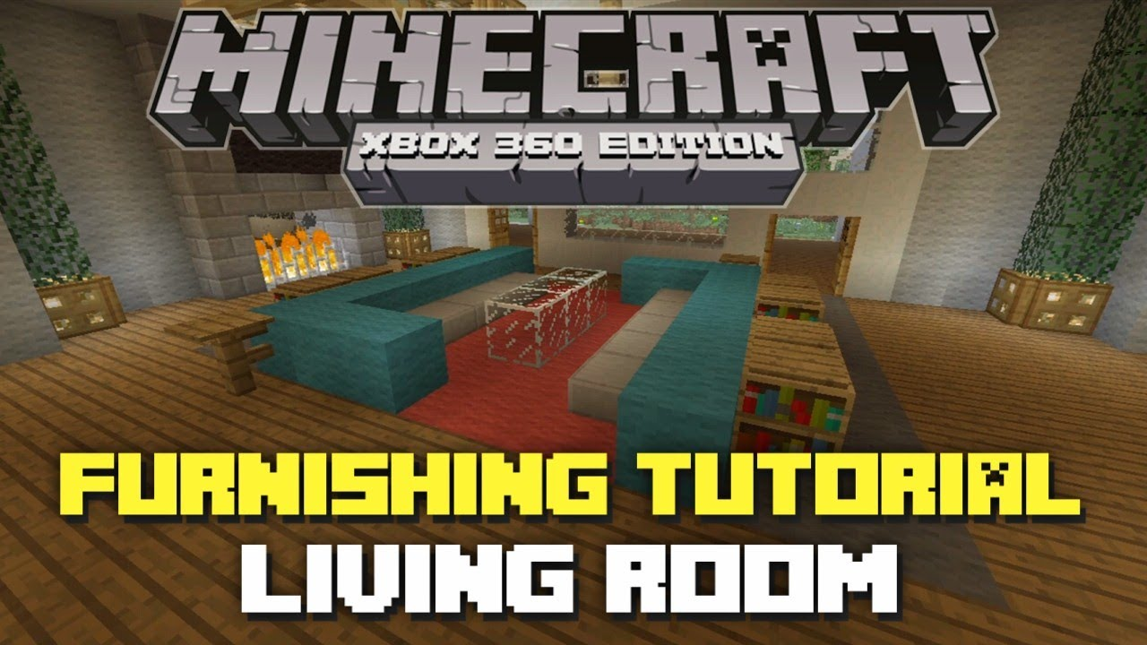 minecraft xbox 360: house furnishing tutorial! episode 3 (living