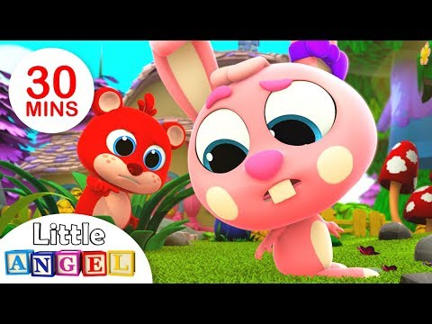 Where is My Baby Bunny Tail? | Animals Songs | Nursery Rhymes and Kids Songs by Little Angel