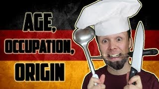 Age, Occupation and Origin | Learn German for Beginners | Lesson 3