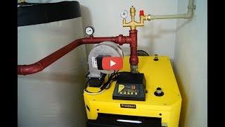 Твердотопливный котел Кронас (kronas) 35 кВт - детальный видео-обзор